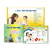 Combo Flashcards Thông Minh Glenn Doman (Bộ học toán 59 Thẻ + Bộ TGXQ 100 thẻ + Bộ đọc 100 thẻ)