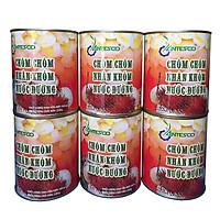 Combo 6 hộp Chôm chôm nhân khớm nước đường (6 hộp x 565gr) - Chôm chôm đóng hộp - Chôm chôm đóng lon - Nước trái cây giải khát - Thương hiệu Antesco