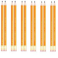 Bút chì gỗ 2B thân vàng 009(Hộp 12 cây)