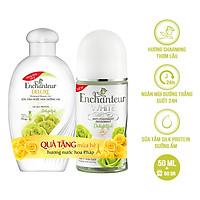 Lăn khử mùi trắng da Enchanteur Delightful 50ml - Tặng sữa tắm Delightful 60g SMP 2021