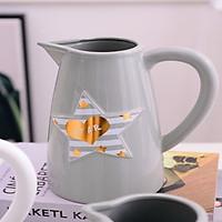 Bình hoa xám có hình ngôi sao - BHXNS01