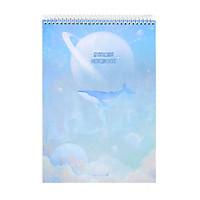 Sổ Lò Xo Fantasy Dream Morning Glory 83157 - Mẫu 2 - Xanh Nhạt