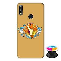 Ốp lưng điện thoại Asus Zenfone Max Pro M2 hình Cá Chép Vàng tặng kèm giá đỡ điện thoại iCase xinh xắn - Hàng chính hãng