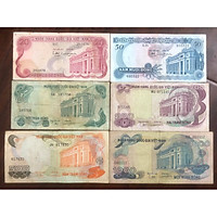 Đủ bộ tiền Hoa Văn Việt Nam, 6 mệnh giá 20 đồng, 50 đồng, 100 đồng, 200 đồng, 500 đồng và 1000 đồng