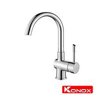 Vòi rửa bát Konox, Model KN1206 , Inox 304AISI tiêu chuẩn châu Âu, mạ PVD 5 lớp sáng bóng, Hàng chính hãng