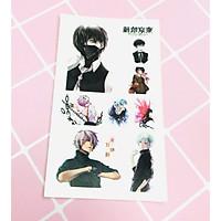 Set 5 Bảng hình xăm Tokyo Ghoul Sticker Tattoo