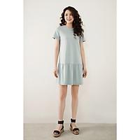 Váy mini đuôi cá cotton basic xanh olive