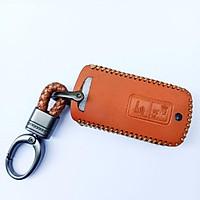vỏ bọc chìa khóa dành cho xe máy Honda Airblade+ lead+vision loại 2 nút.bọc khóa da bò