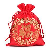 Combo 5 Túi gấm chử phúc màu đỏ Thượng Hải phong thủy TÀI LỘC VÀ MAY MẮN
