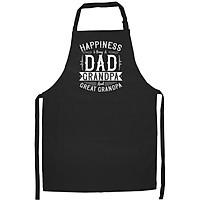 Tạp Dề Làm Bếp In họa tiết Hạnh phúc khi trở thành ông nội và ông cố