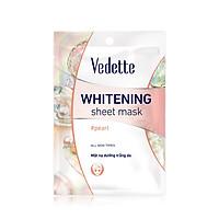 Mặt nạ giấy dưỡng trắng da Ngọc trai Vedette Whitening Mask Pearl 22ml