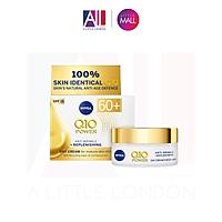 Kem dưỡng chống lão hoá mạnh Nivea Q10 Power Anti Wrinkle + Replenishing Cream 60+ 50ml