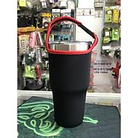 Túi xách cho ly giữ nhiệt 900ml màu đen viền đỏ