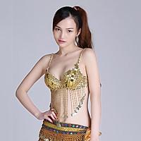 Belly Dance Beaded Bra Sequins Tassel Tops Dancing Singer Costumes