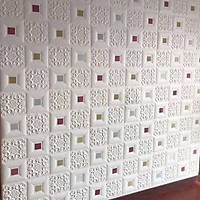Bộ 10 tấm xốp dán tường đính decal