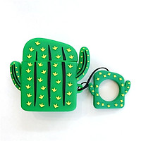 Creative Airpods Earphone Sets For Apple Wireless Bluetooth Sleeve Silicone Cactus Carrot Female 2 - [Carrot ‖ Lanyard]