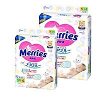 [Combo 2] Bỉm - Tã dán Merries cộng miếng size S 82+6 miếng (Cho bé 4~8kg)