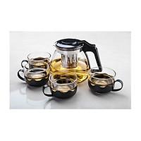Bộ bình lọc trà thủy tinh cao cấp