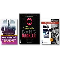 Bộ 3 cuốn sách giao tiếp Đắc Nhân Tâm nt , Thôi miên bằng ngôn từ (bìa tím) , Ngôn ngữ cơ thể – bí quyết chiến thắng trong mọi cuộc đàm phán