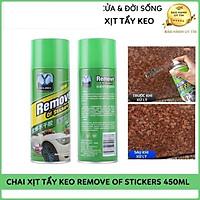 Chai Xịt Tẩy Keo, Nhưa Đường, Băng Dính, Vết Bám Khó Rửa Trên Xe Máy, Ô Tô Remove of sticker 450ml