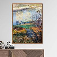 Tranh sơn dầu phong cảnh mùa thu Châu Âu - OP003