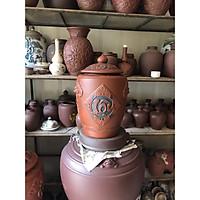 Hũ sành đựng rượu gạo gốm sứ Bát Tràng loại 15L (10Kg gạo)