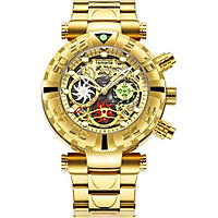 Top Luxury Men Watches Gold silver Stainless Steel Sport male Military Watch man quartz Clock date