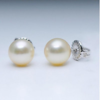 Bông tai-Khuyên tai-Hoa tai ngọc trai Akoya  6-7mm chất liệu Vàng trắng Sang trọng trẻ trung thanh lịch E1002W2A11Y032002K000