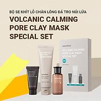 Bộ sản phẩm se khít lỗ chân lông đá tro núi lửa innisfree Volcanic Calming Pore Clay Mask Special Set - 131173426x