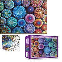 Bộ Tranh Ghép Xếp Hình 1000 Pcs Jigsaw Puzzle (Tranh ghép 70*50cm) Hoa Văn Màu Sắc Bản Thú Vị Cao Cấp