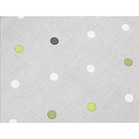 Tấm Trải Bàn JYSK Dvergjamne Nhựa PVC Họa Tiết Chấm Bi  Xám R140cm