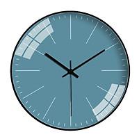 Đồng hồ treo tường tròn basic nền xanh cổ vịt không số 30cm