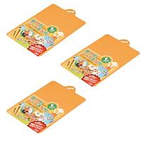 Bộ 3 thớt nhựa dẻo (màu cam) - Hàng Nhật nội địa
