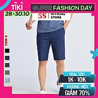 Quần Short Nam 5S Premium (6 màu), Chất Kaki Cotton Co Giãn Tốt, Bền Màu (QSK21004-01)