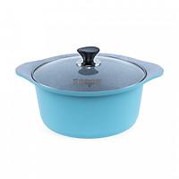 Nồi Eco Happy Home Ceramic dáng nồi thông dụng size 28cm màu Xanh dương