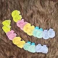 Set bao tay bao chân cao cấp cho bé sơ sinh chất cotton thoáng khí thun co giãn không gây hằn cho da bé – SS009