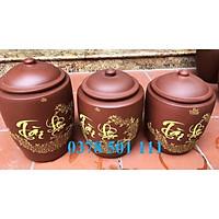 Hũ gạo gốm Bát Tràng 5kg