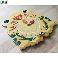 Đồng hồ gỗ ghép hình cao cấp Prota dành cho bé trai + quà tặng bộ 12 thẻ ghép hình