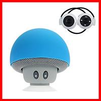 Combo Loa Bluetooth Mini Hình Nấm Siêu Dễ Thương, + Tặng Tai Nghe Chụp Tai Bluetooth Cao Cấp