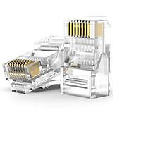 Túi hạt mạng RJ45 AMPCOM 50U, nhựa trong suốt cho dây cáp CAT6 (100 chiếc/Túi) AMCAT650100/b100 - Hàng chính hãng