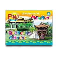 Combo 10 Hộp Flash card song ngữ Anh Việt - Lô tô cho trẻ mầm non - Chủ đề: Quê hương, đất nước