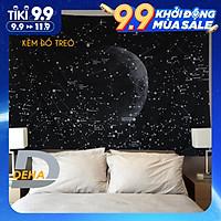 Thảm trang trí tranh vải treo tường họa tiết dải ngân hà bầu trời sao decor phòng nhà cửa, dán tường, cạnh giường