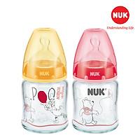 Bình sữa NUK Premium Choice+ (Disney) thủy tinh 120/240ml núm ti S1 - M