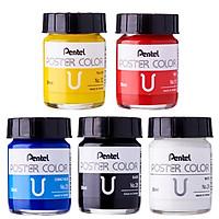 Màu Poster Pentel - 5 màu cơ bản