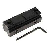 Dovetail 11mm to 20mm Weaver Picatinny Rail Mount Adapter Converter Black
