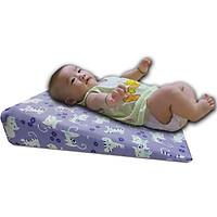 Gối chống trào ngược cho bé chống nôn trớ, ọc sữa, hỗ trợ tiêu hóa và cải thiện hô hấp, giúp trẻ tập lẫy - kích thước siêu rộng 45x60x9cm - độ dốc 11,3 độ - dành cho trẻ từ 0-36 tháng