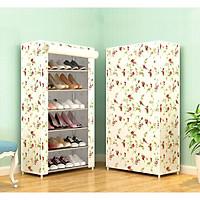 Tủ Vải Đựng Giày Dép 6 Tầng 3D Mẫu Mới ( tặng khăn lau đa năng )