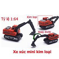 Đồ chơi mô hình xe xúc mini KAVY NO.8808 chất liệu kim loại an toàn cho bé có thể làm trang trí - màu đỏ