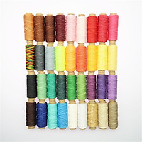36 Roll 150D Leather Sewing Waxed Thread For Upholstery Shoes Luggage Repair
