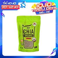Hạt Chia Đen hữu cơ Nam Mỹ túi 500g - Chia Seeds Organic